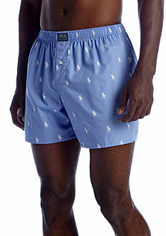 Polo Ralph Lauren Classic-Fit Pony Print Woven Boxers