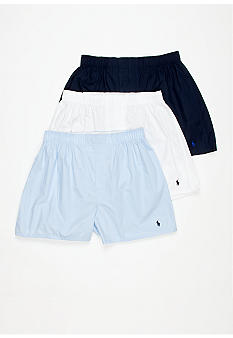 Polo Ralph Lauren Classic Cotton Woven Boxer- 3-Pair Pack