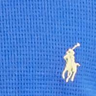 guys pajamas: Barclay/Monico Blue Polo Ralph Lauren Waffle-Knit Crew Neck Shirt
