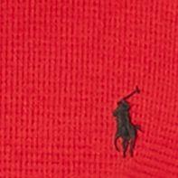 guys pajamas: Franklin Red Polo Ralph Lauren Waffle-Knit Crew Neck Shirt