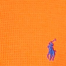 guys pajamas: Basketball Orange Polo Ralph Lauren Waffle-Knit Crew Neck Shirt