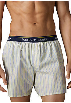Polo Ralph Lauren Yellow Bay Striped Woven Boxers