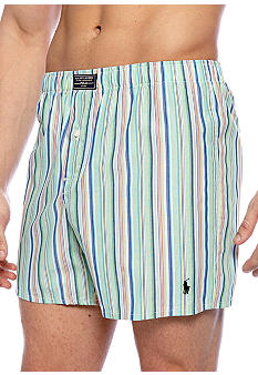 Polo Ralph Lauren Green Toulon Stripe Boxer Shorts