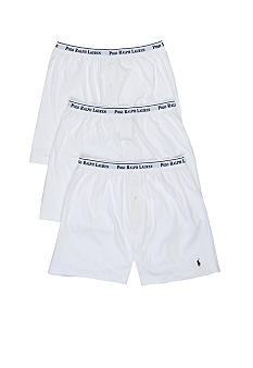 Polo Ralph Lauren 3pk Knit Boxer Whites