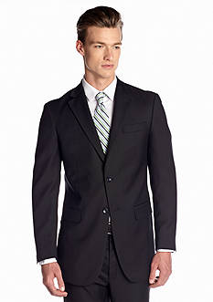 Jones New York Solid Midnight Navy Wool Sport Coat