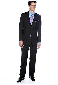 Jones New York Black Textured Suit