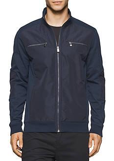 Calvin Klein Long Sleeve Blocked Terry Full Zip Shirt