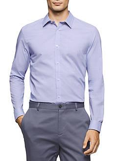 Calvin Klein Long Sleeve Mini Glen Plaid Shirt