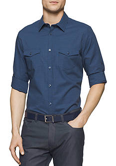 Calvin Klein Long Sleeve Multi Colored Gingham Shirt