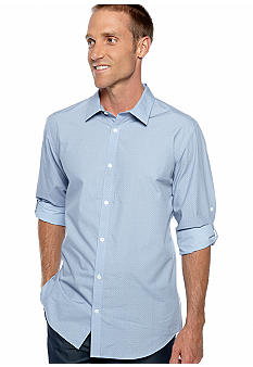 Calvin Klein Geoprint Chambray Shirt
