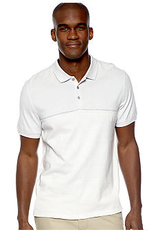 Calvin Klein Engineered Stripe Polo Knit