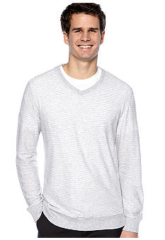 Calvin Klein Stripe V-Neck Knit