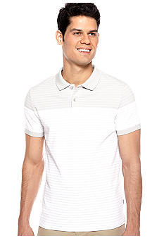 Calvin Klein Colorblock Stripe Pique Polo Knit