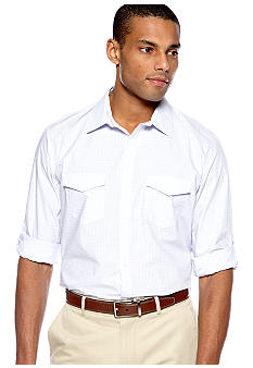 Calvin Klein End-on-End Check Poplin Shirt