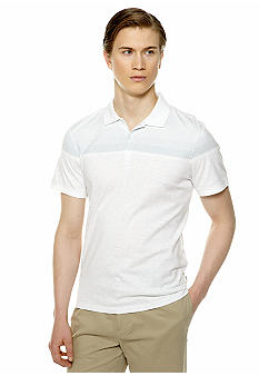 Calvin Klein Three-Button Jersey Stripe Polo