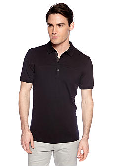 Calvin Klein Four-Button Pique Polo