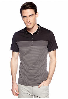 Calvin Klein Four-Button Stretch Pique Polo