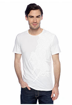 Calvin Klein Scoop Neck Jersey Graphic Tee