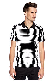 Calvin Klein Stripe Liquid Cotton Polo
