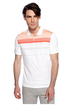 Calvin Klein Three-Button Jersey Engineer Stripe Polo
