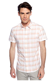 Calvin Klein Heather Plaid Dobby Button Front