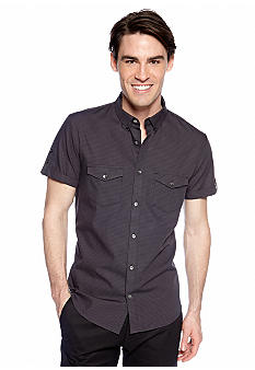 Calvin Klein Short Sleeve Check Lino Shirt