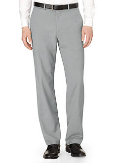 Calvin Klein Yarn-Dyed Twill Flat Front Pants