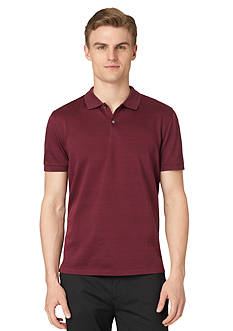 Calvin Klein Short Sleeve Stripe Pique Polo