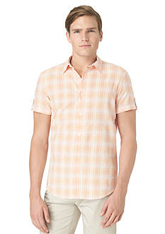 Calvin Klein Short-Sleeve Seersucker Woven Shirt