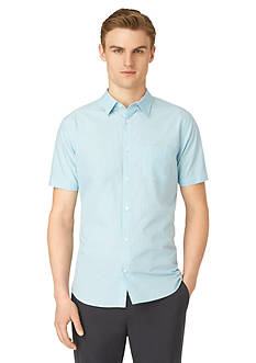Calvin Klein Short-Sleeve Fine Check Woven Shirt