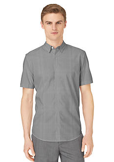 Calvin Klein Plaid Short Sleeve Woven Shirt