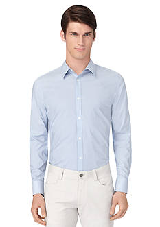 Calvin Klein Long Sleeve Stripe Poplin Woven Shirt