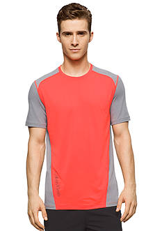 Calvin Klein Short Sleeve Core Color Blocked Stretch Crew Tee