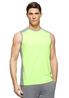 Calvin Klein Sleeveless Core Stretch Color Blocked Tee