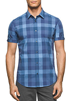 Calvin Klein Short Sleeve Heather Buffalo Check Shirt