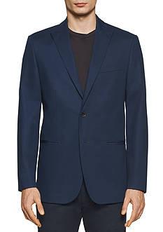 Calvin Klein Solid Crowsfoot Texture Peak Jacket