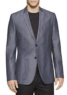 Calvin Klein Linen Herringbone Hopsack Jacket