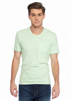 Calvin Klein Short Sleeve Solid Double Collar V-Neck T-Shirt