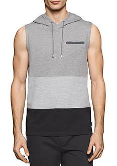 Calvin Klein Terry Color Blocked Hoodie Vest