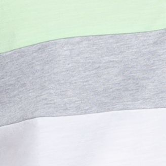 Shirts For Guys: Stripes & Prints: Patina Green Calvin Klein Liquid Cotton Short Sleeve Slub Jersey Color Blocked Polo Shirt