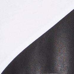 Calvin Klein Men Sale: White Calvin Klein Short Sleeve Jersey Leather Fabric Blocked T-Shirt
