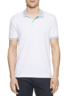 Calvin Klein Short Sleeve Solid Piece Dye Pique Interlock Polo Shirt