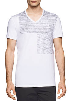 Calvin Klein Short Sleeve Heather Print Block T-Shirt