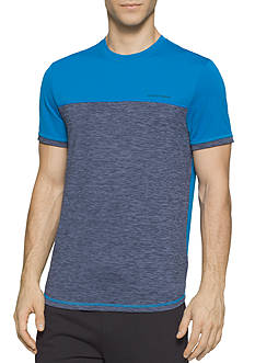 Calvin Klein Colorblocked Mixed Media Mesh T-Shirt