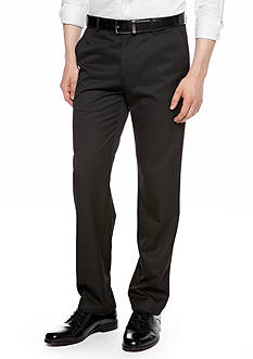 Calvin Klein Straight-Fit Flat-Front Pants