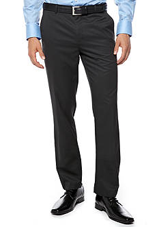 Calvin Klein Straight Fit Flat Front Pants