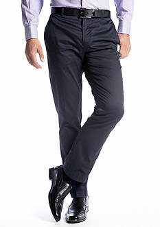 Calvin Klein Slim Fit Bowery Flat Front Pants