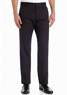Calvin Klein Straight-Fit Flat-Front Sateen Pants