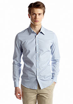 Calvin Klein Slim Fit Mini Stripe Poplin Shirt