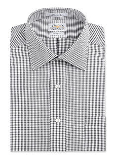 Eagle Shirtmakers Non Iron Slim Fit Check Dress Shirt